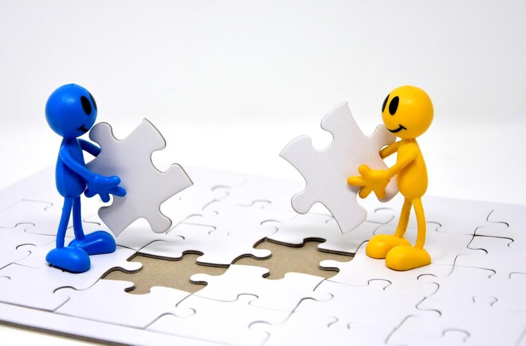 パズルを作る共同作業